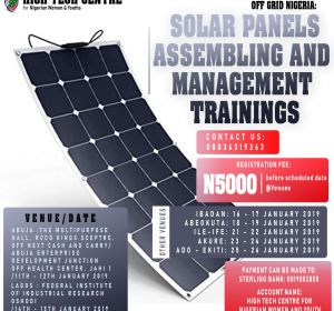 OFF GRID NIGERIA : SOLAR PANEL ASSEMBLY MANAGEMENT AND TRAINING (2019 Edition)